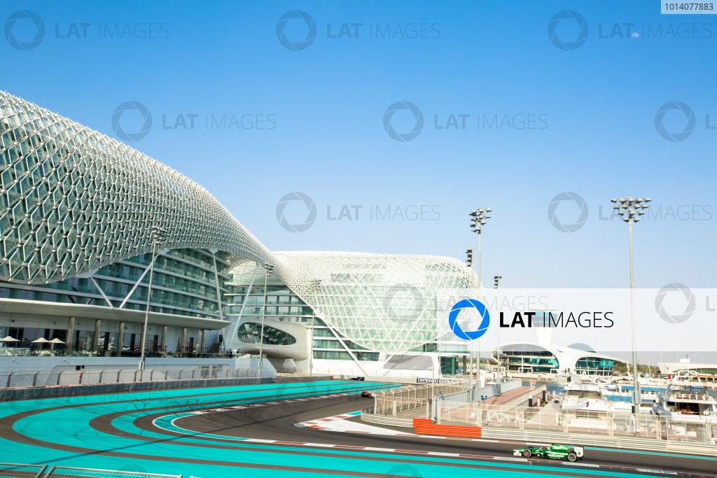 2014 GP2 Series Test 1  Yas Marina Circuit, Abu Dhabi, UAE.  Wednesday 12 March 2014. Rio Haryanto (INA) EQ8 Caterham Racing  Photo: Malcolm Griffiths/GP2 Series Media Service ref: Digital Image A50A4750
