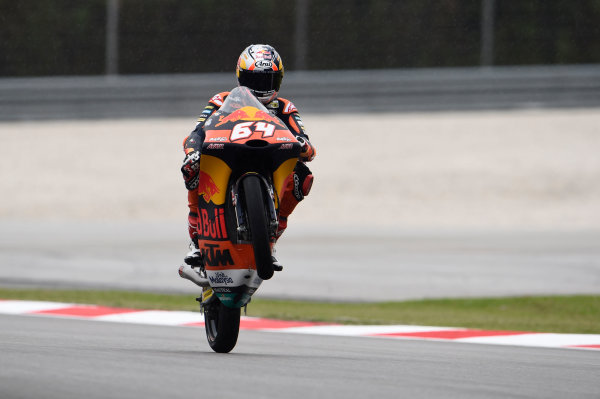 2017 Moto3 Championship - Round 17 Sepang, Malaysia. Friday 27 October 2017 Bo Bendsneyder, Red Bull KTM Ajo World Copyright: Gold and Goose / LAT Images ref: Digital Image 25058