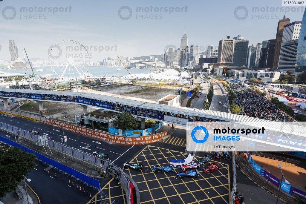 2017/2018 FIA Formula E Championship. Round 1 - Hong Kong, China. Saturday 02 December 2017. Start of the race. Photo: Alastair Staley/LAT/Formula E ref: Digital Image _ALS6780