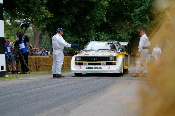 2014 Goodwood Festival of Speed  Goodwood Estate, West Sussex, England. 26th - 29th June 2014.  Sunday 29 June 2014. Audi Quattro World Copyright: Adam Warner/LAT Photographic. ref: Digital Image _L5R7529