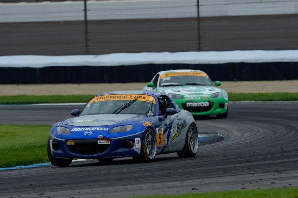 24-25 July,  2014, Indianapolis, Indiana, USA 5, Mazda, MX-5, ST, Stevan McAleer, Chad McCumbee ©2014, Richard Dole LAT Photo USA