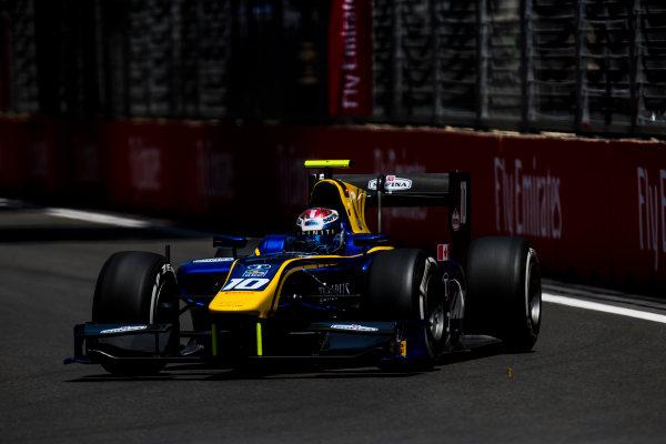 2017 FIA Formula 2 Round 4. Baku City Circuit, Baku, Azerbaijan. Friday 23 June 2017. Nicholas Latifi (CAN, DAMS)  Photo: Zak Mauger/FIA Formula 2. ref: Digital Image _54I9882