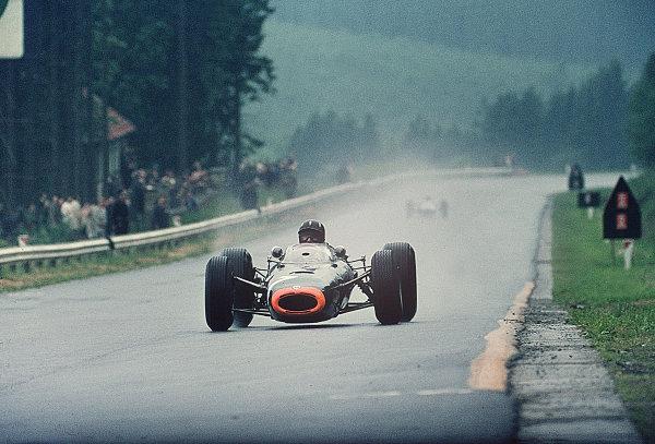 Spa-Francorchamps, Belgium.11-13 June 1965.Graham Hill (BRM P261) 5th position.Ref-65 BEL 01.World Copyright - LAT Photographic