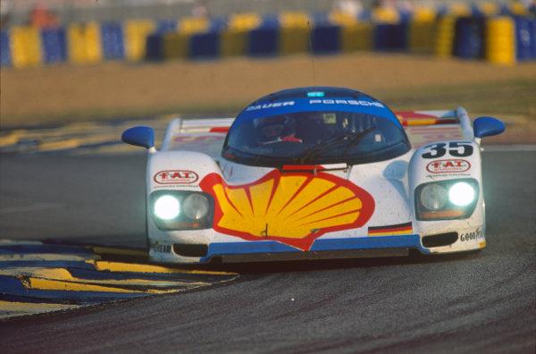 Le Mans, France. 18th - 19th June 1994.Hans-Joachim Stuck/Danny Sullivan/Thierry Boutsen (Dauer 962 Le Mans Porsche), 3rd position, action. World Copyright: LAT Photographic.Ref:  94LM04.