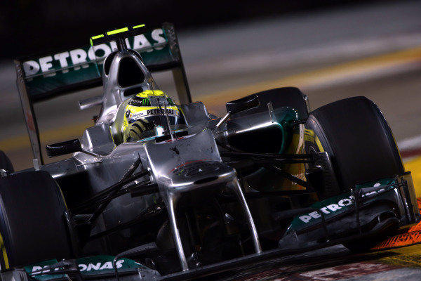 Marina Bay Circuit, Singapore23rd September 2012Nico Rosberg, Mercedes F1 W03. World Copyright: Andy Hone/LAT Photographicref: Digital Image HONZ0787