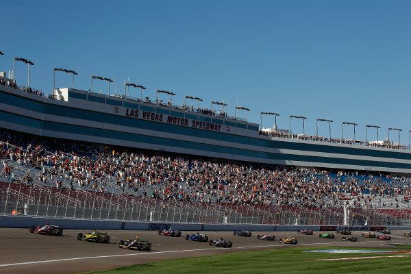 12-16  October, 2011, Las Vegas, NevadaThe drivers run 5 laps in tribute to Dan Wheldon(c)2011, Michael L. LevittLAT Photo USA