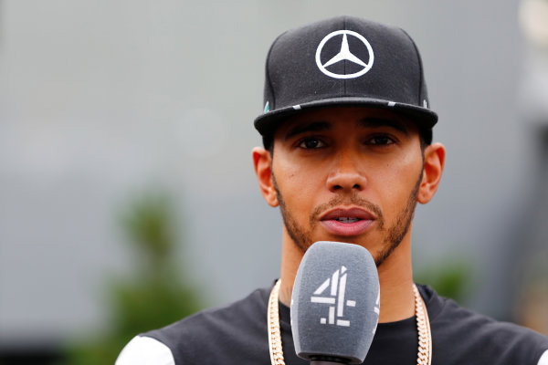 Red Bull Ring, Spielberg, Austria. Sunday 3 July 2016. Lewis Hamilton, Mercedes AMG, is interviewed by Channel 4 F1. World Copyright: Andrew Hone/LAT Photographic ref: Digital Image _ONY5953