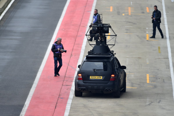 Mercedes-AMG F1 W09 EQ Power+ Launch and First Run Silverstone, England, 22 February 2018. Filming car at Mercedes-AMG F1 W09 EQ Power+ Launch. World Copyright: Simon Galloway/Sutton Images/LAT Images Photo ref: SUT_Mercedes_AMG_F_1567635