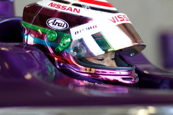 FIA Formula E Test Day, Donington Park, UK.  19th August 2014. Jann Mardenborough. Photo: Adam Warner/FIA Formula E ref: Digital Image _MG_5287
