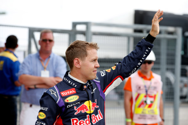Hungaroring, Budapest, Hungary. Saturday 26 July 2014. Sebastian Vettel, Red Bull Racing. World Copyright: Glenn Dunbar/LAT Photographic. ref: Digital Image _W2Q1165