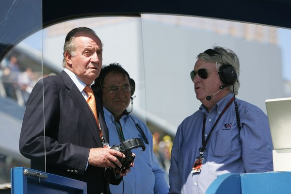 2008 Moto GP ChampionshipJerez, Spain. 28th - 30th March 2008.King Juan Carlos chats about the start procedure to Race Director Paul Butler.World Copyright: Martin Heath/LAT Photographicref: Digital Image Only