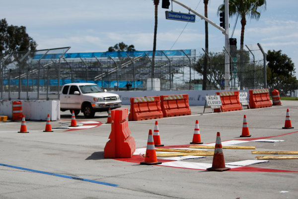 2014/2015 FIA Formula E Championship. Long Beach ePrix, Long Beach, California, United States of America. Friday 3 April 2015 View of the turn one chicane. Photo: Zak Mauger/LAT/Formula E ref: Digital Image _L0U6250