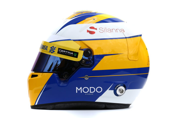 Albert Park, Melbourne, Australia. Helmet of Marcus Ericsson, Sauber.  Thursday 12 March 2015. World Copyright: LAT Photographic. ref: Digital Image 2015_Helmet_023