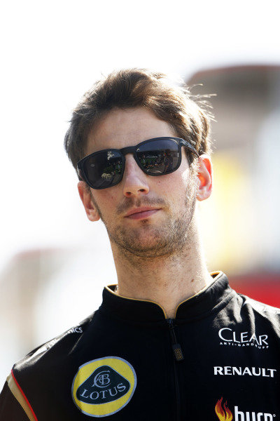 Circuit de Catalunya, Barcelona, Spain. Friday 9 May 2014. Romain Grosjean, Lotus F1. World Copyright: Charles Coates/LAT Photographic. ref: Digital Image _N7T8359