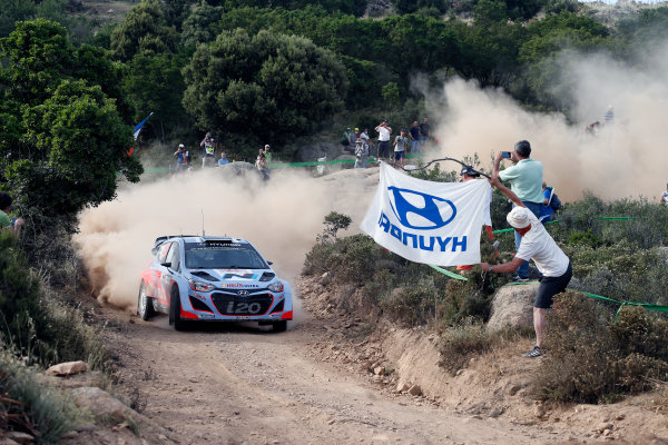 2014 World Rally Championship Rally Italy Sardinia 5th - 8th June 2014 Hayden Paddon, Hyundai, Action,  Worldwide Copyright: McKlein/LAT