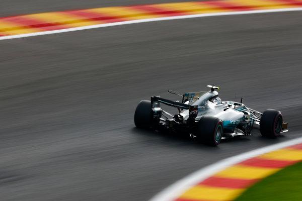 Spa Francorchamps, Belgium.  Saturday 26 August 2017. Valtteri Bottas, Mercedes F1 W08 EQ Power+.  World Copyright: Sam Bloxham/LAT Images  ref: Digital Image _W6I9854