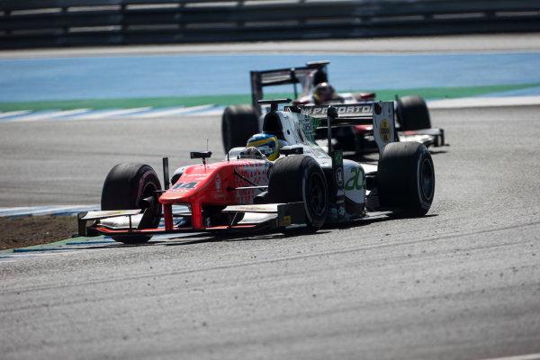 2017 FIA Formula 2 Round 10. Circuito de Jerez, Jerez, Spain. Sunday 8 October 2017. Sergio Sette Camara (BRA, MP Motorsport).  Photo: Andrew Ferraro/FIA Formula 2. ref: Digital Image _FER3425