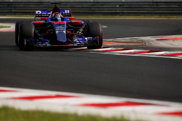 Hungaroring, Budapest, Hungary.  Wednesday 02 August 2017. Carlos Sainz Jr, Toro Rosso STR12 Renault. World Copyright: Joe Portlock/LAT Images  ref: Digital Image _L5R2115