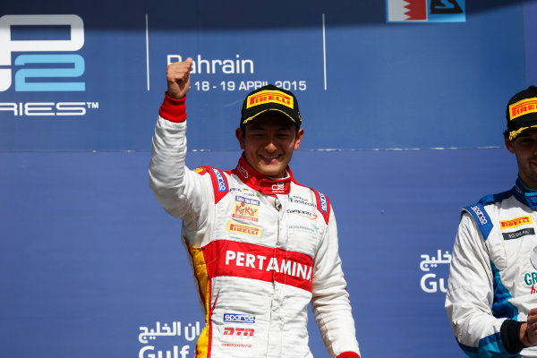 2015 GP2 Series Round 1 - Bahrain International Circuit, Bahrain. Sunday 19 April 2015. Rio Haryanto (INA, Campos Racing)  Photo: Glenn Dunbar/GP2 Series Media Service. ref: Digital Image _W2Q9258