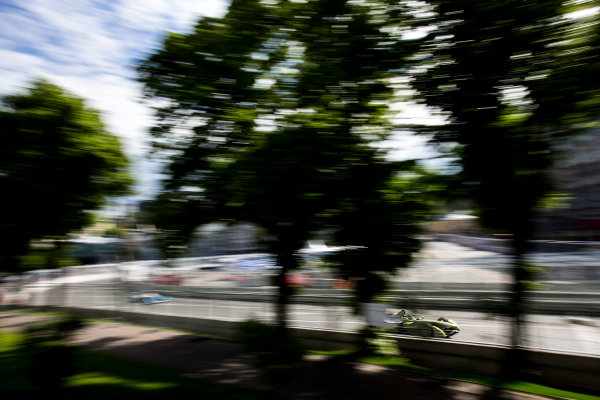 2014/2015 FIA Formula E Championship. Moscow ePrix, Moscow, Russia. Saturday 6 June 2015 Antonio Garcia (SPA)/China Racing - Spark-Renault SRT_01E. Photo: Zak Mauger/LAT/Formula E ref: Digital Image _L0U0665