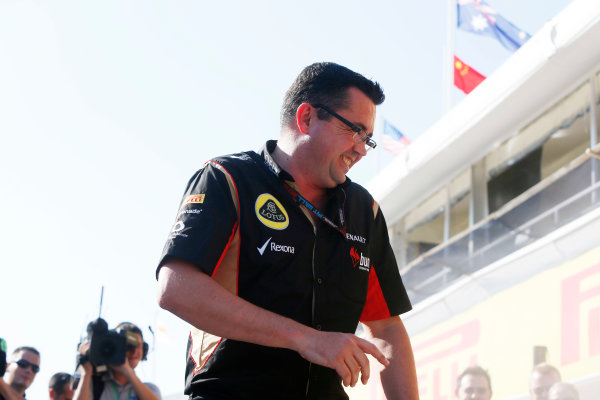 Hungaroring, Budapest, Hungary 28th July 2013 Eric Boullier, Team Principal, Lotus F1 World Copyright: Charles Coates/LAT Photographic ref: Digital Image _N7T4038