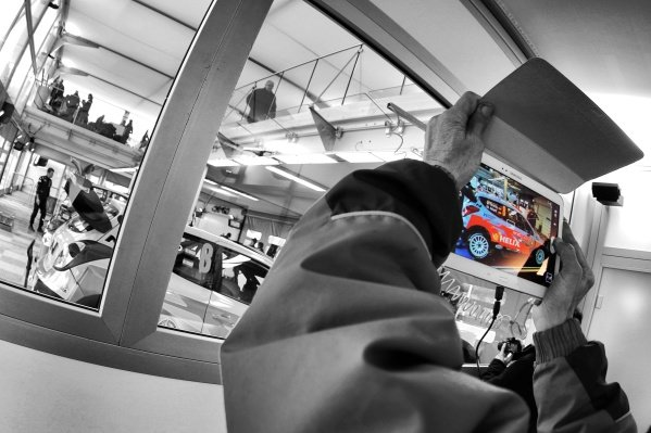 www.sutton-images.com -  Fan takes a photo of Daniel Sordo (ESP) / Marc Marti (ESP) Hyundai i20 WRC on a Samsung tablet at the FIA World Rally Championship, Rd1, Rally Monte Carlo, Preparations and Shakedown, Monte Carlo, 22 January 2015. Photo Sutton Images