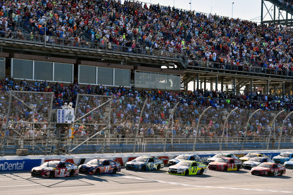 Monster Energy NASCAR Cup Series GEICO 500 Talladega Superspeedway, Talladega, AL USA Sunday 7 May 2017 Kyle Busch, Joe Gibbs Racing, Skittles Red, White, & Blue Toyota Camry and Denny Hamlin, Joe Gibbs Racing, FedEx Express Toyota Camry World Copyright: Nigel Kinrade LAT Images ref: Digital Image 17TAL1nk07189