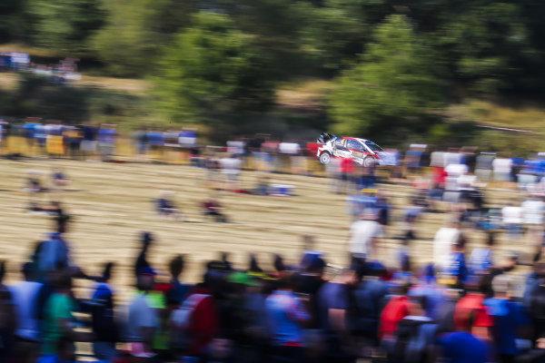 Ott Tanak at speed on Rallye Deutschland