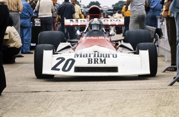 Jean-Pierre Beltoise, BRM P160E leaving the pitlane.