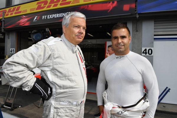 Zsolt Baumgartner (HUN) F1 Experiences 2-Seater driver and F1 Experiences 2-Seater passenger at Formula One World Championship, Rd12, Belgian Grand Prix, Race, Spa Francorchamps, Belgium, Sunday 27 August  2017.