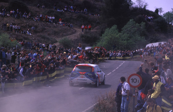 FIA World Rally ChampsCatalunya Rally, Spain. 30/3-2/4/2000Carlos Sainz, Ford Focus WRC, 3rd place.photo: World - McKleintel: (+44) 0208 251 3000e-mail: digital@latphoto.co uk35mm Original Image.