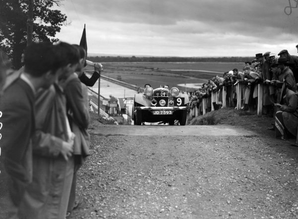 A Riley comes over the top of the Test Hill.