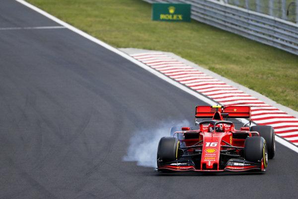 Charles Leclerc, Ferrari SF90 locks up