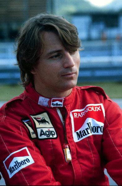 1984 Brazilian Grand Prix.Jacarepagua, Rio de Janeiro, Brazil.23-25 March 1984.Rene Arnoux (Ferrari).World Copyright - LAT Photographic