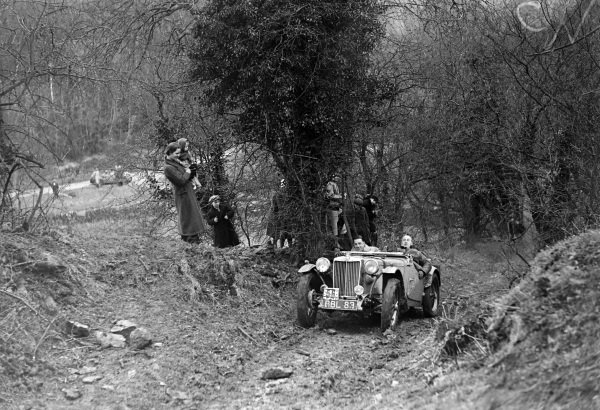An MG in action.