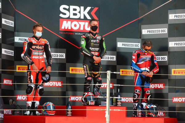 Chaz Davies, Aruba.it Racing Ducati, Jonathan Rea, Kawasaki Racing Team, Alvaro Bautista, Team HRC.