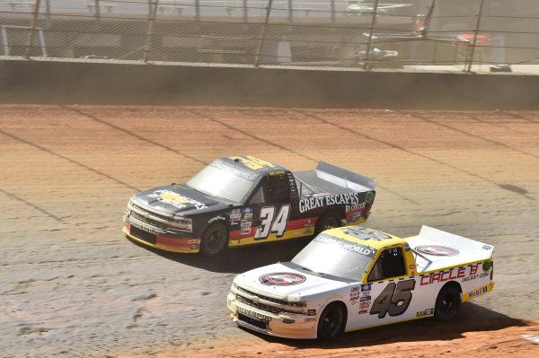 #34: Jake Griffin, Reaume Brothers Racing, Toyota Tundra Great Escapes RV Center, #45: Brett Moffitt, Niece Motorsports, Chevrolet Silverado Circle B Diecast