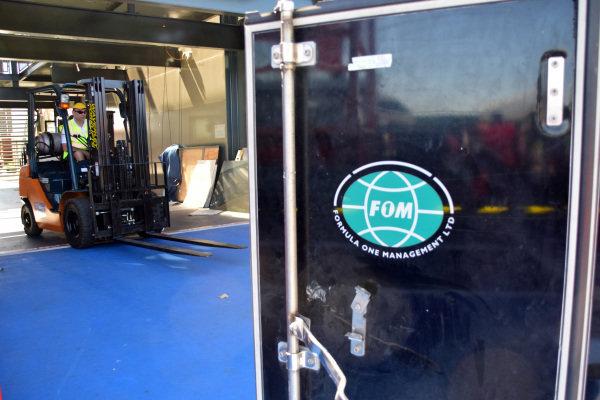 FOM freight.Formula One World Championship, Rd1, Australian Grand Prix, Preparations, Albert Park, Melbourne, Australia, Sunday 9 March 2014.