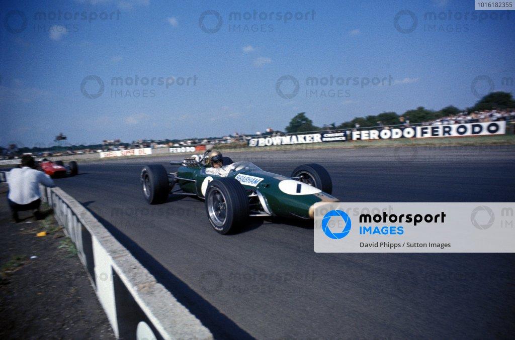 Jack Brabham (AUS) Brabham Repco BT24, 4th place. Formula One World Championship, Rd6, British Grand Prix, Silverstone, England. 15 July 1967. BEST IMAGE