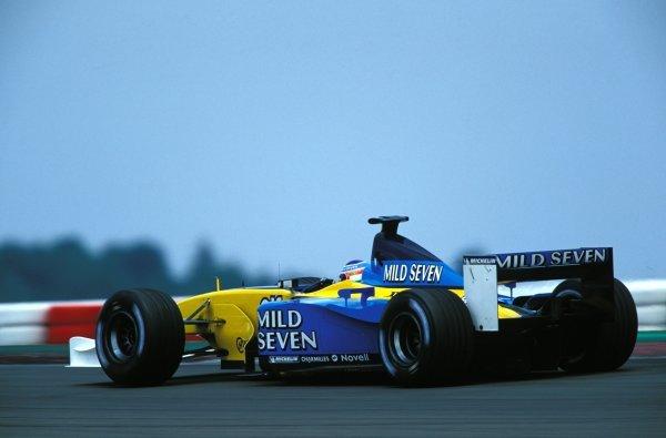 Jarno Trulli (ITA) Renault R202.Formula One World Championship, Rd9, European Grand Prix, Nurburgring, Germany. 23 June 2002.BEST IMAGE