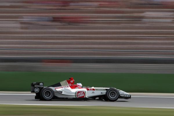 2004 German Grand Prix - Friday Practice,Hockenheim, Germany. 23rd July 2004Jenson Button, BAR Honda 006. Action. World Copyright: Steve Etherington/LAT Photographic ref: Digital Image Only