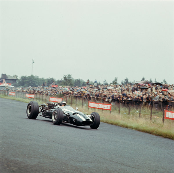 1966 German Grand Prix.Nurburgring, Germany. 5-7 August 1966.Jochen Rindt (Cooper T81 Maserati) 3rd position. Ref-2329.World Copyright - LAT Photographic