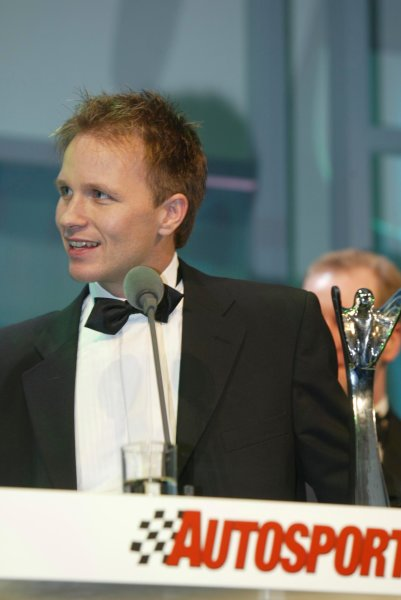 2003 AUTOSPORT AWARDS, The Grosvenor, London. 7th December 2003.Petter Solberg, International Rally Driver of the year.Photo: Peter Spinney/LAT PhotographicRef: Digital Image only