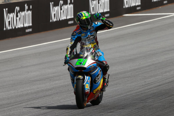 2017 Moto2 Championship - Round 11 Spielberg, Austria Sunday 13 August 2017 Race winner Franco Morbidelli, Marc VDS World Copyright: Gold and Goose / LAT Images ref: Digital Image 686843