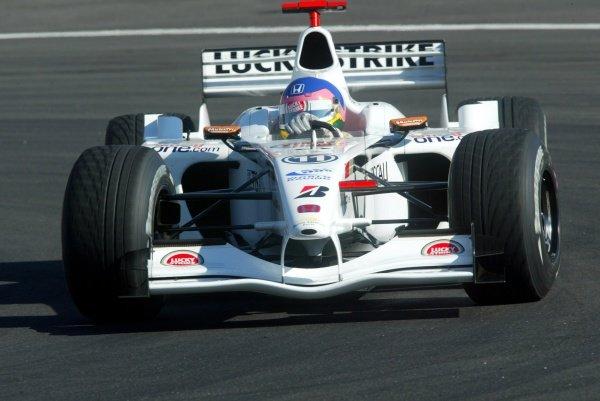Jacques Villeneuve (CDN) BAR Honda 004.German Grand Prix, Hockenheim, Germany, 28 July 2002.DIGITAL IMAGE
