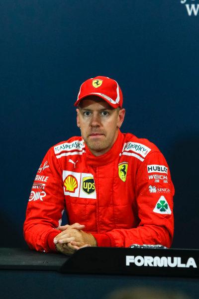 Sebastian Vettel (GER) Ferrari in the Press Conference