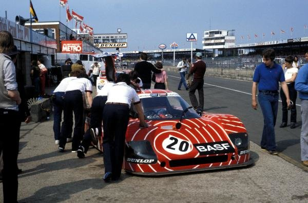 Hans Heyer (GER) / Hans-Joachim Stuck (GER) Sauber SHS C6 Ford in the pits after retiring with ignition problems. World Sports Prototype Championship, Rd2, Silverstone 6 Hours, England, 16 May 1982.