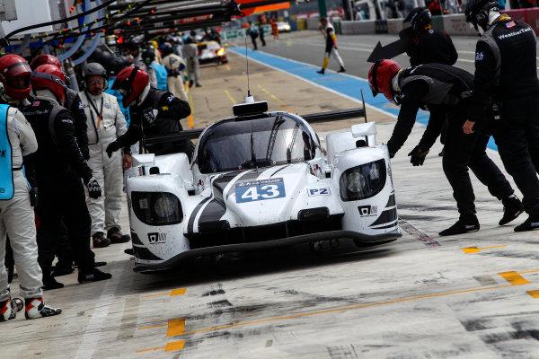 2017 Le Mans 24 Hours Test day, Le Mans, France. 4th June 2017. #43 Keating Motorsports Riley MK30-Gibson: Ben Keating, Jeroen Bleekemolen, Ricky Taylor. World Copyright: JEP/LAT Images.