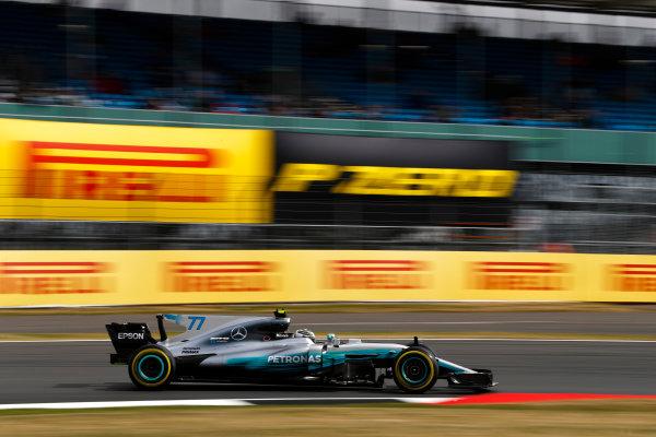 Silverstone, Northamptonshire, UK.  Friday 14 July 2017. Valtteri Bottas, Mercedes F1 W08 EQ Power+. World Copyright: Glenn Dunbar/LAT Images  ref: Digital Image _31I2973