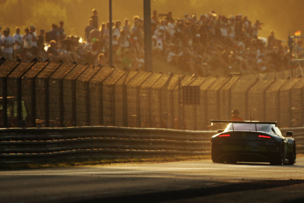 2017 Le Mans 24 Hours Circuit de la Sarthe, Le Mans, France. Sunday 18th  June 2017 #95 Aston Martin Racing Aston Martin Vantage: Nicki Thiim, Marco Sorensen, Richie Stanaway  World Copyright: JEP/LAT Images